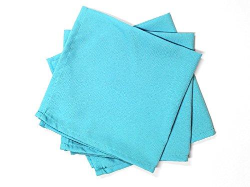 Soleil d'Ocre Lot de 3 serviettes de table ALIX turquoise