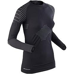 X-Bionic Lady Invent Uw Shirt Long_Sl, Donna, Nero/Antracite, S