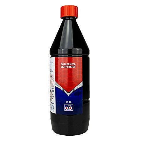 AD Chemie Ölfleckenentferner CT28 1L Flasche Schraubverschluss für alle Untergründe Teppich Terrasse Garage Keramik Naturstein Marmor Granit uvm. 4726010042