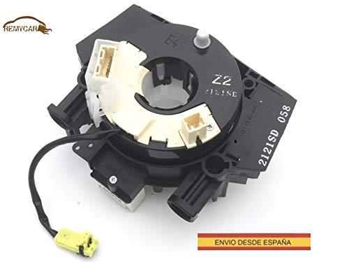 CARRETE CONTACTO VOLANTE COMPATIBLE CON QASHQAI NOTE CABLE ESPIRAL RELOJ DE MUELLE b5567-bh00a