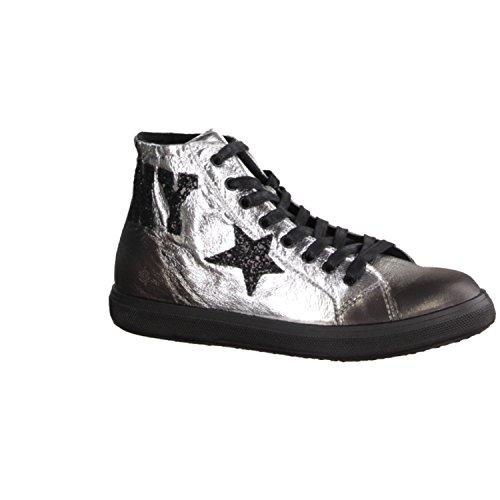 Sneaker in laminato con stampa Cafè Noir art.EK820 I15.204 ARGENTO