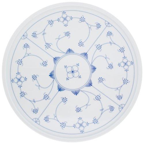 Kahla - Porcelaine pour les Sens 203321A75019C Saks Tradition Plat à Tarte Bleu/Blanc 31 cm
