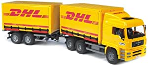 Bruder - 2784 - Véhicule Miniature - Camion Man Container DHL + Remorque