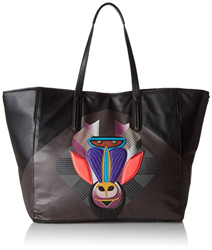 Liebeskind Berlin Damen Uruma Shopper, Schwarz (Ninja Black 9998), 38x36x22 cm