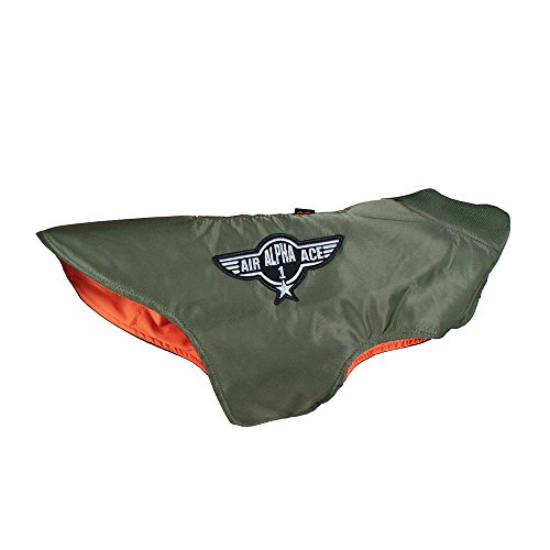 ALPHA Industries Dog Nylon Flight Jacket olive, Größe:XXL Alpha Flight Jacket