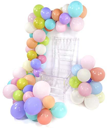 PuTwo Luftballons Pastell, 100 Stück 10 Zoll Ballons Pastell in 12 Farben Luftballons Pastellfarben Mix Pastellfarbene Luftballons Latexballons Pastell für Partydeko Pastellfarben, Partydeko Pastell