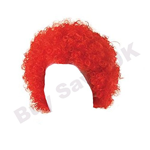 Childrens Kids Boys Girls Red Curly Afro Wig Clown Halloween Fancy ()