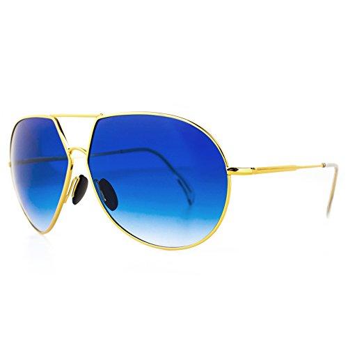 DISTRESSED Shades2Go Aviator Pilotenbrille Piloten Sonnenbrille viele Farben gold blau verlauf