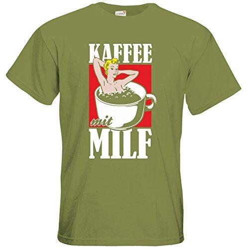 getshirts - Rocket Beans TV Official Merchandising - T-Shirt - Kaffee mit MILF Green Moss