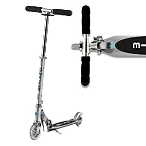 Micro Sprite Scooter 2 Wheels Lightweight Frame With Adjustable Handlebar For Age 5-12 - Silver