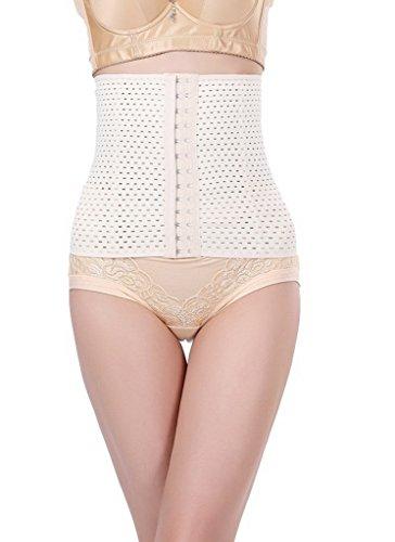 Bigood 1*Bauchband Gurt Gestaltung Gürtel gute für Abnahmen oder Nach Geburt Beige XXL