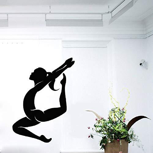 Turner Tank (zhuziji Turner Wandtattoos Sport Mädchen Gymnastik Tanzstudio Aufkleber Home Design Interior Art Vinyl Aufkleber Baby Mädchen Kinder Krankenschwester schwarz 102X76cm)
