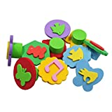 "#5: AsianHobbyCrafts Foam Stamps with Handle : Size 2"":Pack of 10 designs : For Hobby crafts, Scrapbooking, Kids Toys"