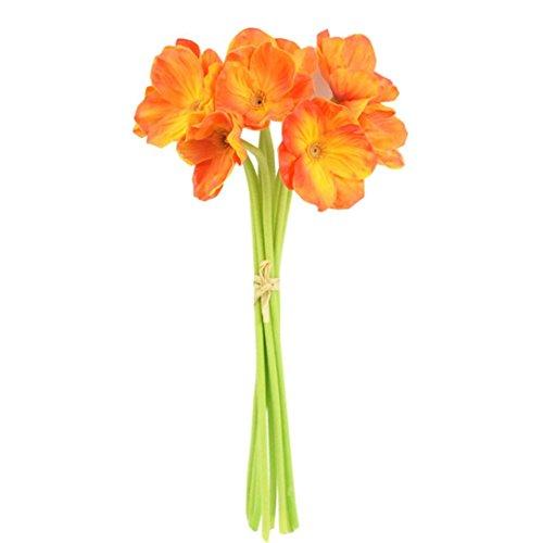 CLEARANCE! MEIbax künstliche mini - realen kontakt mohn blumen dekorative blumen für die einrichtung (Orange)