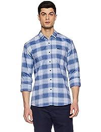 Wrangler Men's Checkered Slim Fit Casual Shirt