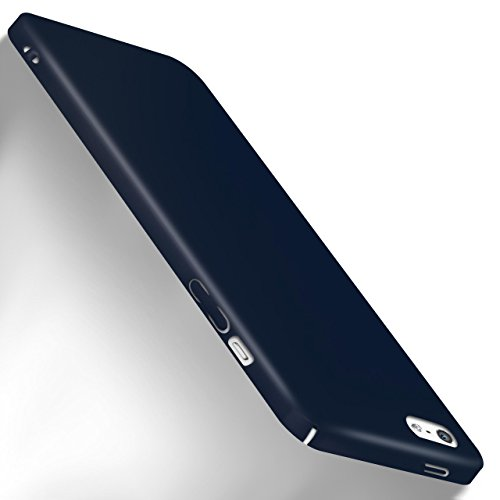 MoEx Apple iPhone 5S Hülle Blau OneFlow Alpha Back-Cover TPU Schutzhülle Dünn Handyhülle für iPhone 5/5S/SE Case Ultra-Slim Thin Skin Handy Schutz Rückseite (Hard Iphone Back)