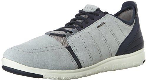 Geox u xunday 2fit a scarpe low-top, uomo, grigio (ice/navy), 43