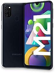 "Samsung Galaxy M21, Smartphone, Display 6.4"" Super AMOLED, 3 Fotocamere Posteriori, 64GB Espandibili, RAM"