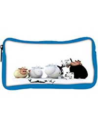 Snoogg Eco Friendly Canvas Coloring Sheeps Designer Student Pen Pencil Case Coin Purse Pouch Cosmetic Makeup Bag