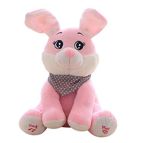 Baby Weiches Plüsch Spielzeug Geschenk, Sansee Baby Schwein Kaninchen Plüschtier Stuffed Pink Animierte Kinder Singen Spielzeug (#1126, Hase (Kostüm Roboter Musik)