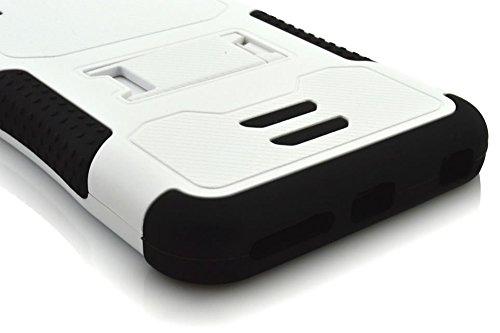 iPhone 6Cas, meaci (TM) Coque pour iPhone 611,9cm Combo hybride 3en 1Defender ArmorBox Coque rigide en plastique et bumper en silicone souple avec béquille (de type B) Blanc