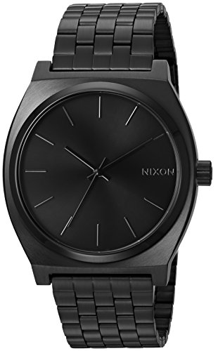 df59362fd8a0 Nixon Time Teller All Black Women s Watch (37mm. Black Face Black Metal Band