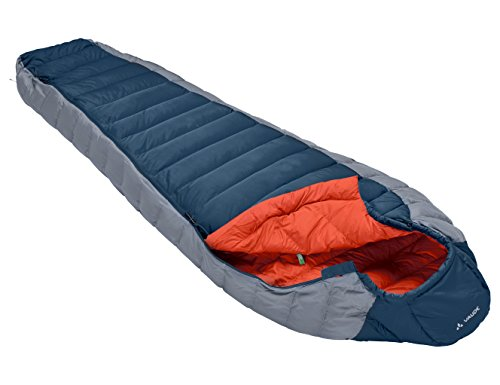 Cheyenne Springs (VAUDE Cheyenne 350 Lightweight Sleeping Bag - 100% Polyester Down Sleeping Bag with Compression Packsack - Ideal Camping Equipment for Spring to Autumn Use - Baltic Sea)