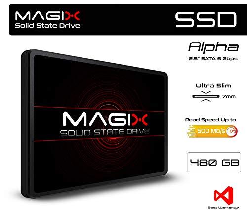 "SSD MAGIX Alpha 2.5"" SATA up to 500Mb/s INTERNAL (480 GB)"