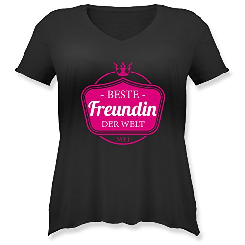 Shirtracer Typisch Frauen - Beste Freundin der Welt - Weit Geschnittenes  Damen Shirt in Großen Größen
