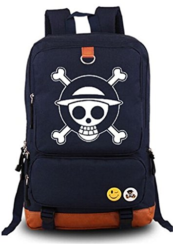 Bromeo One Piece Animado Luminoso Mochila Bolsas Escolares Cartera Col