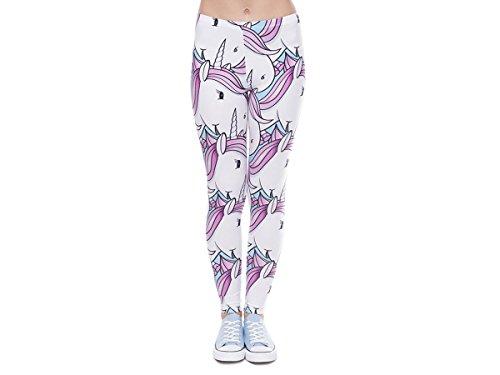 Leggings Damen mit Muster Einhorn, Variante wählen:LEG-119 Einhorn