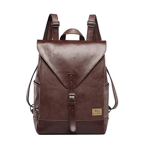 Große Kapazitäts-Weinlese-Leder-Mann-Rucksack-Art- und Weiseschultasche-Reise-Feste Taschen-Geschäft Mens-Laptop-Daypacks Brown