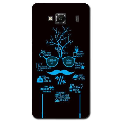 Kaira brand Designer Back Case Cover for Xiaomi Redmi 2 (Shadow of Dad)