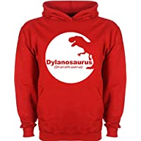Kids Dinosaur Hoodie Personalised Dino T Rex T-Rex Name Design T-shirt Tee Shirt Custom Gift Choose Colours Birthday Childrens Toddler