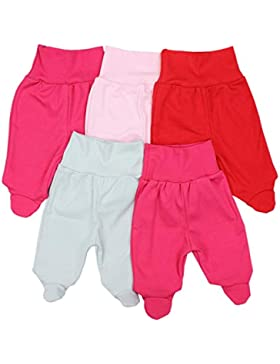 TupTam Unisex Baby Strampelhose mit Fuß 5er Pack