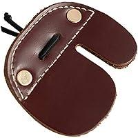 Haplws Protectores de lengüetas de Dedo de Tiro con Arco de Cuero de Vaca para Arcos recurrentes Tiro de Caza Protector de Dedos de Guardia Pestañas de Dedos de Tiro con Arco