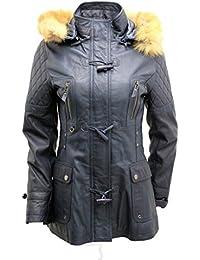 Suchergebnis auf Amazon.de für  Leder Parka Damen - Infinity  Bekleidung fe056560a0