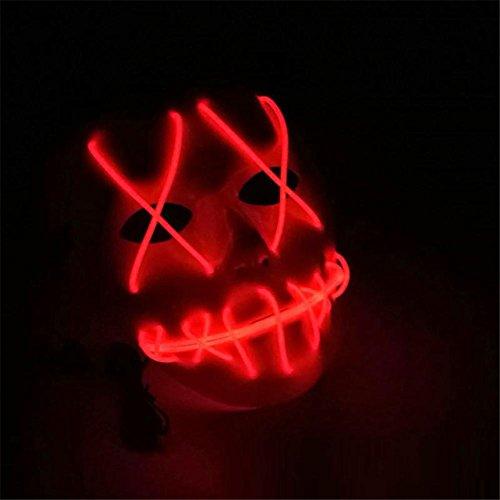 Fancy Schmetterling Kostüme Lila Dress (Maskerade Maske Halloween Ghost Slit Mund leuchten glühende EL Wire Nette Maske Mode Cosplay Maske Kostüm Maske für Party von 3V Steady On Fahrer (Die Batterie ist nicht im Lieferumfang)