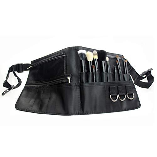 Lurrose Make-up Pinsel Tasche Tools Pack Portable Kosmetik Pinsel Halter Organizer mit einstellbaren Künstlergurtband (schwarz) (Pinsel Pack)