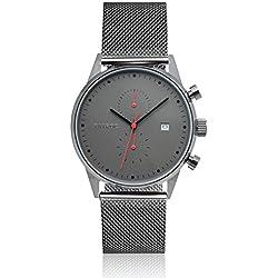 Clock Men's Watch Tayroc Boundless Classic Chronograph Stainless Steel Black Quartz Wrist Watch TXM086