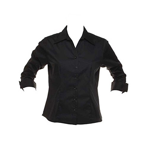 Kustom Kit Formal Smart Corporate Ladies Oxford 3/4 Length Sleeve Shirt