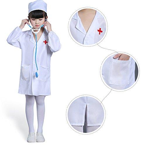 Kostüm Arzt Ärztin Doktor Krankenschwester Kostüm Kinderkostüm Größe 100cm-150cm ()