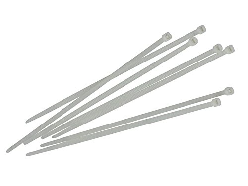 Faithfull ct250 W Attaches de câble 4,8 x 250 mm (Lot de 100) - Blanc