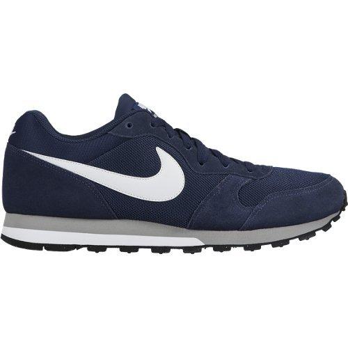 Nike Md Runner 2 Scarpe da Ginnastica Basse Uomo, Blu (Midnight Navy/White/Wolf Grey), 43 EU