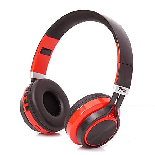 PTron Kicks Wireless Bluetooth, Wired Headphones (Red, On Ear)