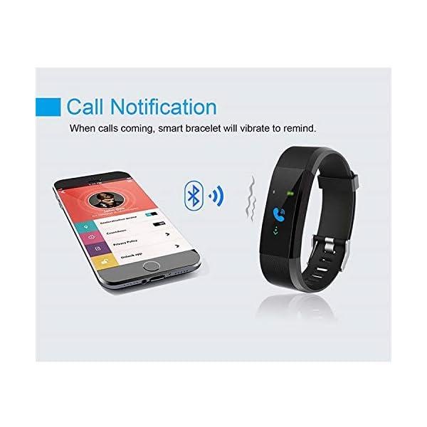 Maju Smartfit Fitness Tracker - Pulsera de actividad para fitness, con corazón, color rojo 9
