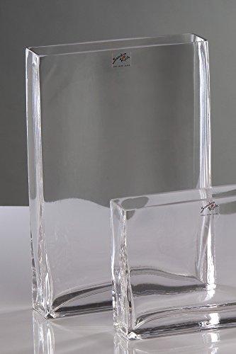 Sandra Rich Glasvase Rectangular klar eckig 22 cm Ø 20,0 x 5,0 cm