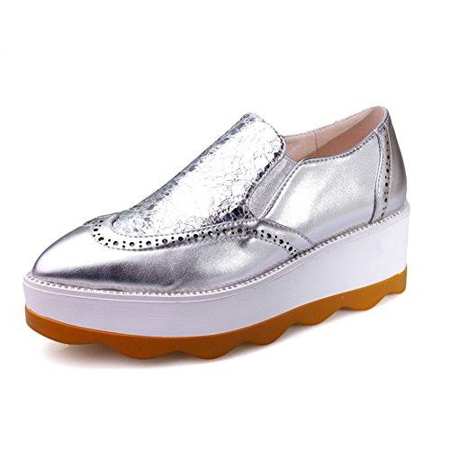 Spring Chaussures pour femmes/Chaussures occasionnelles avec des semelles épaisses/Étudiants mis le pied fond plat wedges shoes B
