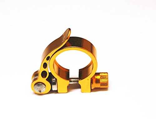 318mm-seatpost-bicycle-bolt-binder-clamp-quick-release-qr-alloy-cycling-gold