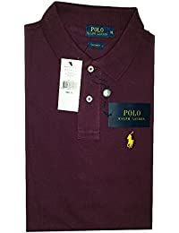 Ralph Lauren Poloshirt small pony, Custom Fit, Homme Multicolore - Large NEW (L, Pourpre)